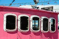 Norway, Stavanger. Moods of Norway's pink boat.