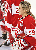 Marie-Philip Poulin (BU - 29) -  The Boston College Eagles defeated the visiting Boston University Terriers 5-0 on BC's senior night on Thursday, February 19, 2015, at Kelley Rink in Conte Forum in Chestnut Hill, Massachusetts.