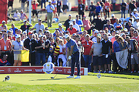 Raffa Cabrera-Bello (Team Europe) on the 9th tee during the Friday afternoon Fourball at the Ryder Cup, Hazeltine national Golf Club, Chaska, Minnesota, USA.  30/09/2016<br /> Picture: Golffile | Fran Caffrey<br /> <br /> <br /> All photo usage must carry mandatory copyright credit (&copy; Golffile | Fran Caffrey)