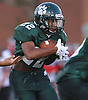 Lindenhurst running back No. 22 Joe Barber picks up yards during the second quarter of a Suffolk County Division I varsity football game against Connetquot at Lindenhurst Middle School on Friday, September 18, 2015.<br /> <br /> James Escher