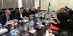 Advisor of Palestinian Prime Minister Khairia Rasas meets with european delegation, in the West Bank city of Ramallah on February 19, 2018. Photo by Prime Minister Office