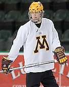Blake Wheeler - The University of Minnesota Golden Gophers took part in their morning skate at Ralph Engelstad Arena in Grand Forks, North Dakota, on Saturday, December 10, 2005.