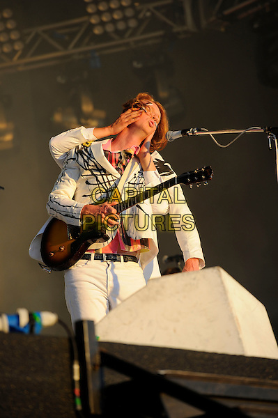 LONDON, ENGLAND - JULY 3: Richard Reed Parry of Arcade Fire perform live at British Summertime, Hyde Park on July 3, 2014 in London, England.<br /> CAP/MAR<br /> &copy; Martin Harris/Capital Pictures