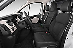 Front seat view of a 2015 Renault Trafic Fourgon Extra L1H1 dCi 120 TT S&S 2.7T 4 Door Cargo Van 2WD Front Seat car photos