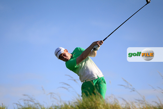 Eanna Griffin (Waterford) on the 15th tee during Round 2 of the South of Ireland Amateur Open Championship at LaHinch Golf Club on Thursday 23rd July 2015.<br /> Picture:  Golffile   Thos Caffrey