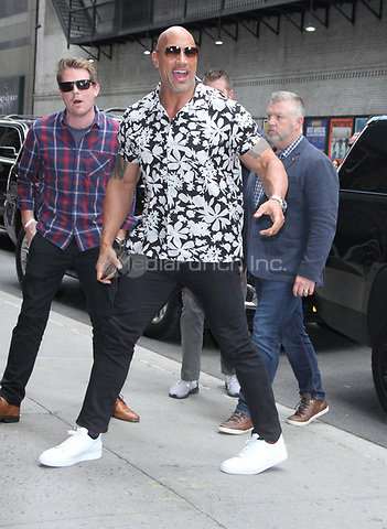 NEW YORK, NY July 11: Dwayne Johnson at the Late Show with Stephen Colbert in New York City on July 11, 2018. Credit: RW/MediaPunch