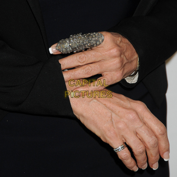 Lori McCreary's hands .Big Brothers Big Sisters of Greater Los Angeles 2013 Accessories for Success Spring Luncheon held at The Beverly Hills Hotel, Beverly Hills, California, USA, .12th April 2013..detail ring rings finger .CAP/ADM/BP.©Byron Purvis/AdMedia/Capital Pictures