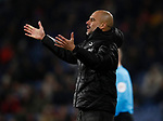 Josep Guardiola manager of Manchester City during the Premier League match at Turf Moor, Burnley. Picture date: 3rd December 2019. Picture credit should read: Simon Bellis/Sportimage