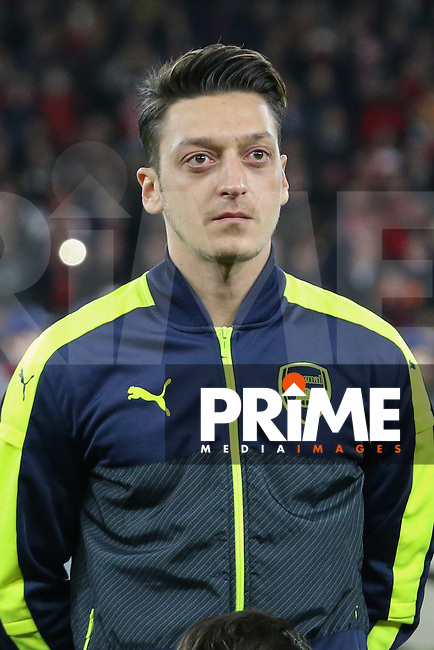 Mesut Ozil of Arsenal during the UEFA Champions League match between Arsenal and Paris Saint Germain at the Emirates Stadium, London, England on 23 November 2016. Photo by David Horn.