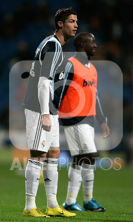 Real Madrid's Cristiano Ronaldo during La Liga match. February 21, 2010. (ALTERPHOTOS/Alvaro Hernandez).