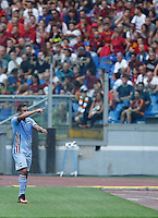 Calcio, Serie A: Roma vs Sampdoria. Roma, stadio Olimpico, 11 settembre 2016.<br /> Sampdoria&rsquo;s Luis Muriel celebrates after scoring during the Italian Serie A football match between Roma and Sampdoria at Rome's Olympic stadium, 11 September 2016. Roma won 3-2.<br /> UPDATE IMAGES PRESS/Isabella Bonotto