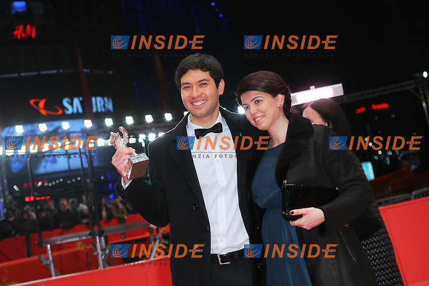 Aziz Zhambakiyev, Anna Katchko. Berlin 16/02/2013. 63th Berlinale Award Winners red Carpet. foto Mark Cape/Insidefoto