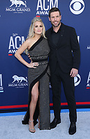 07 April 2019 - Las Vegas, NV - Carrie Underwood, Mike Fisher. 2019 ACM Awards at MGM Grand Garden Arena, Arrivals.<br /> CAP/ADM/MJT<br /> &copy; MJT/ADM/Capital Pictures