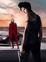 Promotional art with Claire Foy &amp; Sylvia Hoeks in The Girl in the Spider's Web (2018) <br /> *Filmstill - Editorial Use Only*<br /> CAP/RFS<br /> Image supplied by Capital Pictures