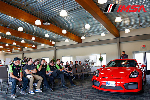 20-22 May 2016, Bowmanville, Ontario, Canada <br /> GT3 Cup Canada, Drivers Meeting<br /> &copy;2016, Jake Galstad<br /> LAT Photo USA