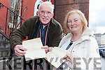Josephine and Tony Casey from Tralee with old telegrams they received for their wedding 49 years ago.