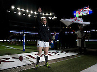 Rochelle Clark leads the team out on her 100th Cap, England Women v France Women in the 6 Nations at Twickenham Stadium, Twickenham, England, on 21st March 2015