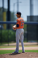 Houston Astros pitcher Willy Collado (57) during a Minor League Spring Training Intrasquad game on March 28, 2019 at the FITTEAM Ballpark of the Palm Beaches in West Palm Beach, Florida.  (Mike Janes/Four Seam Images)