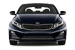 Car photography straight front view of a 2014 KIA Optima Hybrid EX 4 Door Sedan Front View
