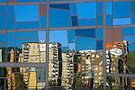 Reflect in the Euskalduna palace, Bilbao, Bizkaia, Spain