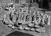 Exploration of the stepped pyramid complex of Djoser. (1924-1935)..At the cost of unprecedented efforts, the master works of the stone cutters which once founded the reputation and fortune of Memphis were brought up to the surface to be inventoried and studied. These objects represented the oldest tableware produced by ancient Egypt.....CHADOUF MOHAMMED/COLLECTION PATRICK CHAPUIS-PHILIPPE FLANDRIN