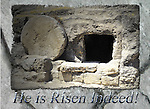 Inspirational photo of empty tomb in Israel