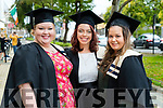 Childcare Management Gratuates Bridget Sexton, Knocknagoshel, Michelle Lynch, Ballymac and Michela Guina, Limerick at the Kerry College of Further Education Graduations at the Brandon Hotel on Thursday.