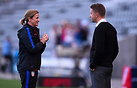 Commerce City, CO - Friday September 15, 2017: Jill Ellis, Tony Readings during an International friendly match between the women's National teams of the United States (USA) and New Zealand (NZL) at Dick's Sporting Goods Park.
