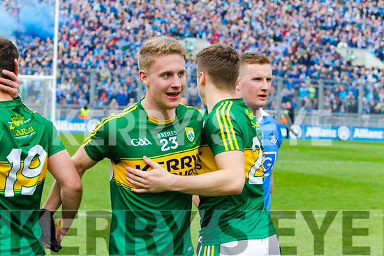 Gavin Crowley Kerry players celebrate after defeating Dublin at the National League Final in Croke Park on Sunday.