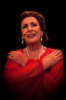 Joy Davidson steps out on stage to perform 'Maria: The Life and Loves of Maria Callas' at the Kravis Center for the Performing Arts, West Palm Beach, Florida, USA, April 17, 2010.