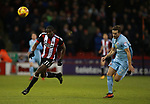 Clayton Donaldson of Sheffield Utd  and Adam Matthews of Sunderland during the Championship match at Bramall Lane Stadium, Sheffield. Picture date 26th December 2017. Picture credit should read: Simon Bellis/Sportimage