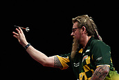 "11th January 2018, Brisbane Royal International Convention Centre, Brisbane, Australia; Pro Darts Showdown Series; Simon "" The Wizard"" Whitlock (AUS) in Semi Final action against Phil ""The Power"" Taylor (GBR)"