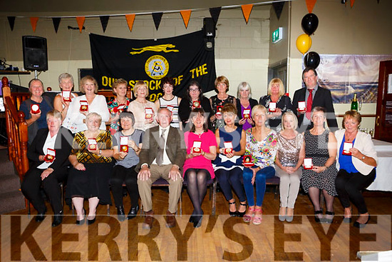 Austin Stacks Ladies celebrate the 40th anniversary of their 1st Senior County Championship win in 1977 at Austin Stacks Clubhouse on Saturday. Pictured The team of 77