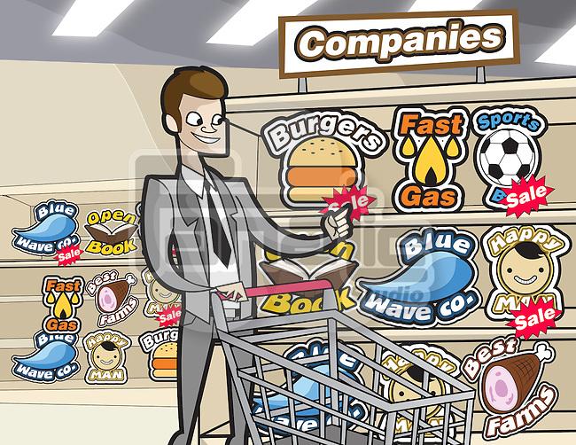 Businessman shopping