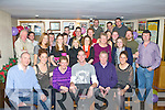 Gabriel Doonan, Muckross, Killarney seated centre who celebrated his 30th birthday with his family and friends in Corkery's bar, Killarney on Saturday night....