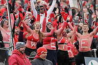 Ohio State Block O students cheer during the second quarter of the NCAA football game against the Michigan State Spartans at Ohio Stadium in Columbus on Nov. 11, 2017. [Adam Cairns/Dispatch]