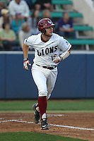 Cassidy Brown (13) of the Loyola Marymount Lions runs the bases during a game against the TCU Horned Frogs at Page Stadium on March 16, 2015 in Los Angeles, California. TCU defeated Loyola, 6-2. (Larry Goren/Four Seam Images)