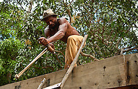 Carpenter Building a Boat, Zanzibar