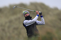 Paul Costello (Cregmore Park) on the 13th tee during Round 2 of the Ulster Boys Championship at Portrush Golf Club, Portrush, Co. Antrim on the Valley course on Wednesday 31st Oct 2018.<br /> Picture:  Thos Caffrey / www.golffile.ie<br /> <br /> All photo usage must carry mandatory copyright credit (&copy; Golffile | Thos Caffrey)