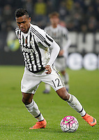 Calcio, Serie A: Juventus vs Sassuolo. Torino, Juventus Stadium, 11 marzo 2016. <br /> Juventus' Alex Sandro in action during the Italian Serie A football match between Juventus vs Sassuolo, at Turin's Juventus Stadium, 11 March 2016.<br /> UPDATE IMAGES PRESS/Isabella Bonotto