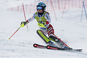 17th March 2018, Àvet Slope, Soldeu, Andorra; FIS Alpine Ski European Cup, Slalom Ladies Finals; 19 STOFEL Elena from SUI  during the Giant Slalom Final;