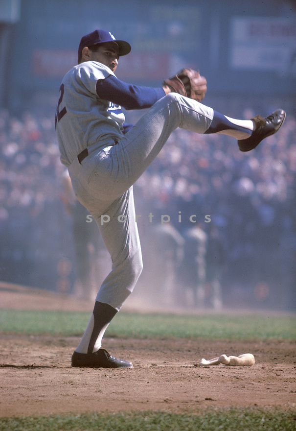 Los Angeles Dodgers Sandy Koufax(32) in action during a game from his 1963 season.  Sandy Koufax played for 12 years all with the Dodgers and was a 3-time Cy Young Award winner and was inducted to the Baseball Hall of Fame in 1972.David Durochik/SportPics