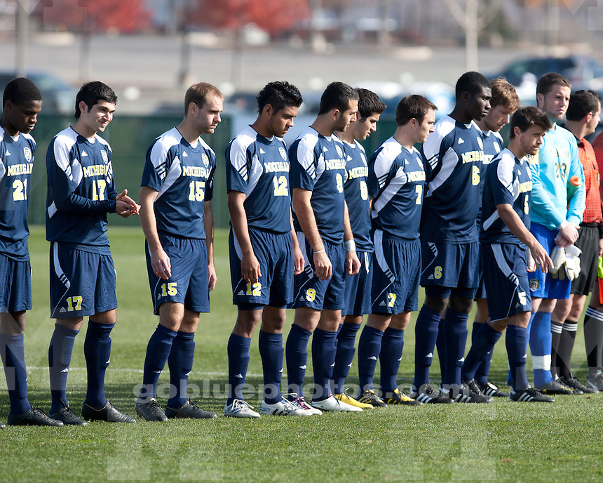 University of Michigan men's soccer 4-1 Big Ten Championship victory over Penn State University State College, PA, on November 14, 2010. The victory earned Michigan their first ever Big Ten Tournament title.