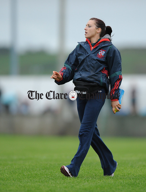 Michelle Downes during the semi-final meeting at Cooraclare. Photograph by John Kelly.