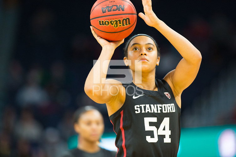 SAN FRANCISCO, CA - NOVEMBER 09: San Francisco, CA - November 9, 2019: Jenna Brown at the Chase Center. The Stanford Cardinal defeated the USF Dons 97-71. during a game between University of San Francisco and Stanford Basketball W at Chase Center on November 09, 2019 in San Francisco, California.