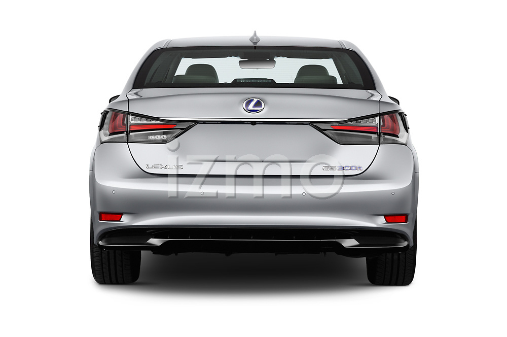 Straight rear view of 2017 Lexus GS Executive-Line 4 Door Sedan Rear View  stock images
