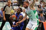 Basketball Champions League 2017/18 - Previus.<br /> Divina Seguros Joventut vs Dinamo Tbilisi: 86-66.<br /> Boyd Lavell Lafrey vs Dominik Mavra.