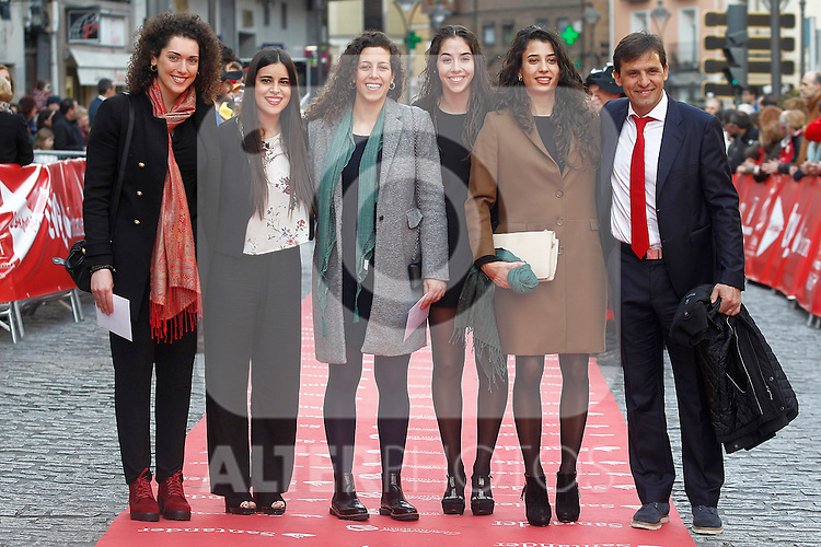 Spanish team of handball beach during 37 Sport Gala - National Sports Awards 2017. March 6,2017. (ALTERPHOTOS/Acero)