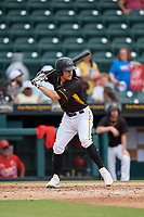 Bradenton Marauders Lucas Tancas (27) at bat during a Florida State League game against the Palm Beach Cardinals on May 10, 2019 at LECOM Park in Bradenton, Florida.  Bradenton defeated Palm Beach 5-1.  (Mike Janes/Four Seam Images)