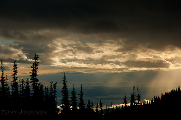 Cloudy morning from Deer Park, Olympic National Park